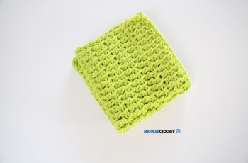 tunisian crochet wash cloth