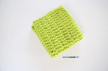 tunisian crochet wash cloth