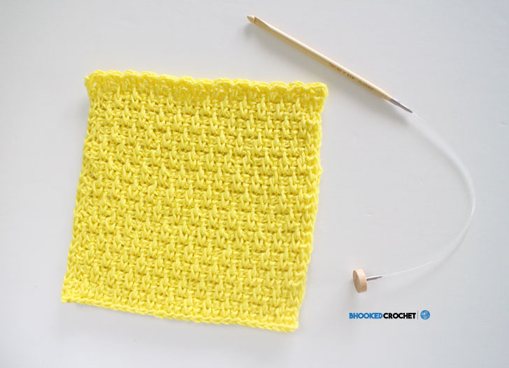 Clover Tunisian Wash Cloth Series Pattern 4 Bhooked Crochet