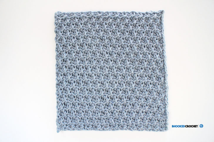 Clover Tunisian Wash Cloth Series Pattern 3 Bhooked Crochet