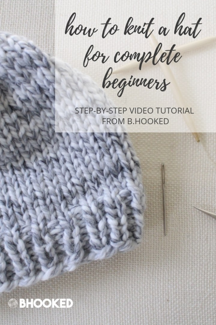 Easy Knit Hat | Free #knit pattern and completely beginner-friendly video tutorial.