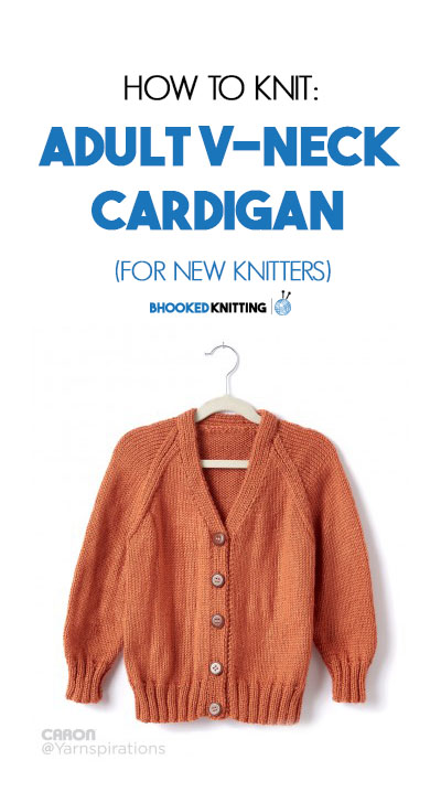 How to Knit a Cardigan for New Knitters - B Hooked Crochet