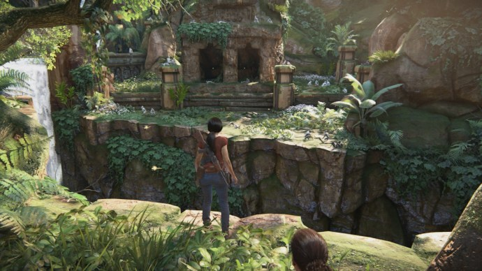 Uncharted - monkey shrine from The Lost Legacy