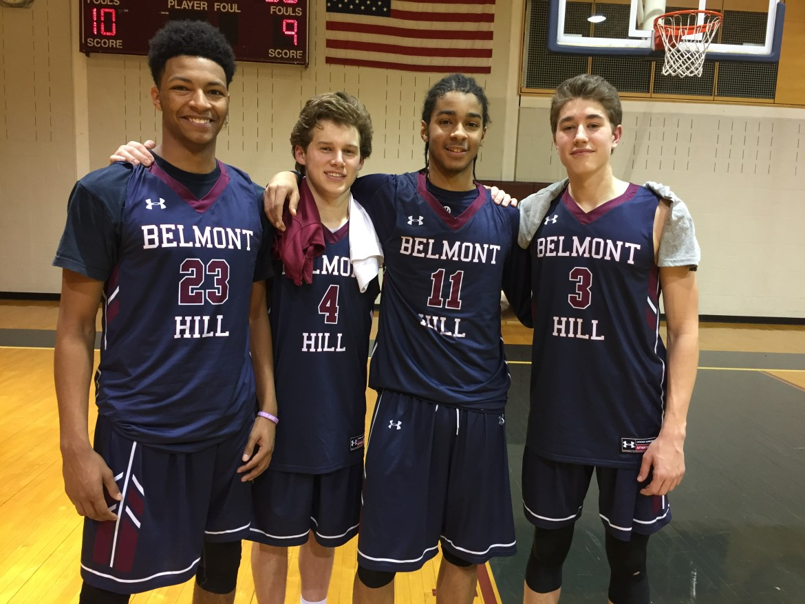 The SuperSophomores (as David Calls them): from left to right, Jovan Jones' 18, Jake Haase '18, David Mitchell '18, and Jake Bobo '18. This promising core has incredible potential for development and improvement over the next two seasons.