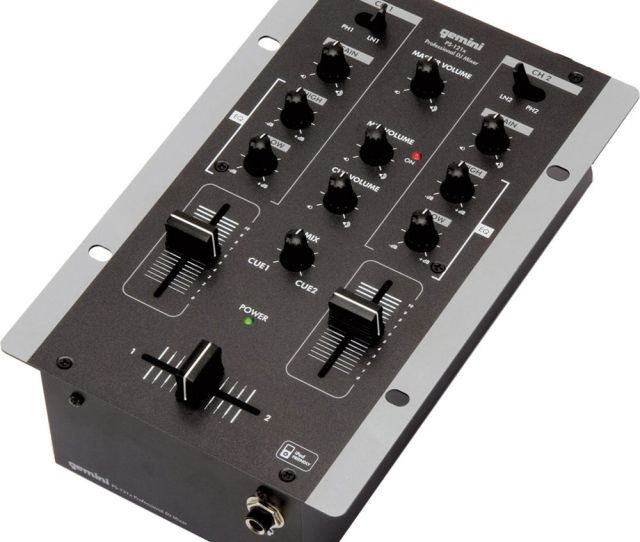 Gemini Ps 121x Pro 2 Channel Stereo Mixer