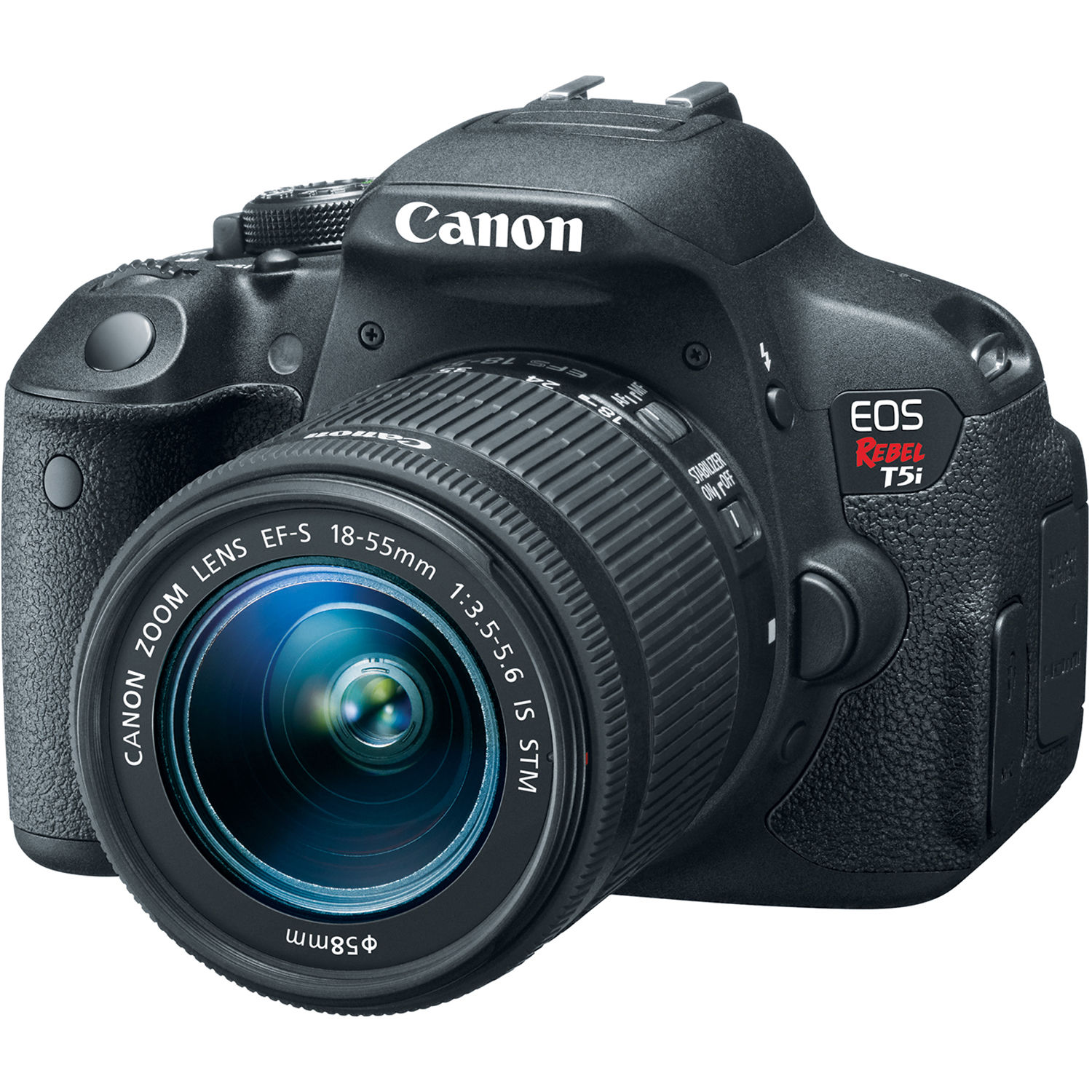 Canon T5i EOS Rebel DSLR Camera with 18 55mm Lens 8595B003 B H Canon EOS Rebel T5i DSLR Camera with 18 55mm Lens