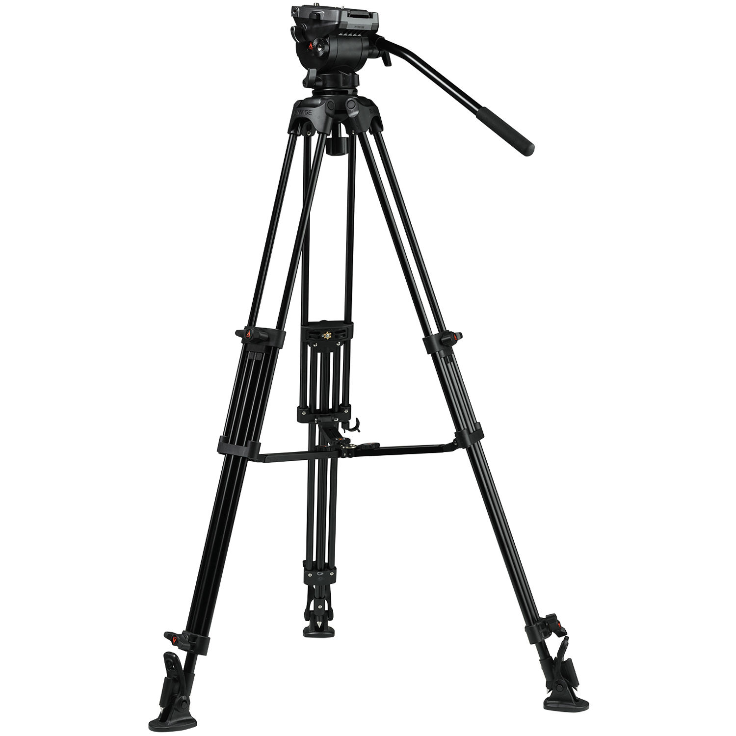 E Image Eg04as 2 Stage Aluminum Tripod System With Gh04 Eg04as