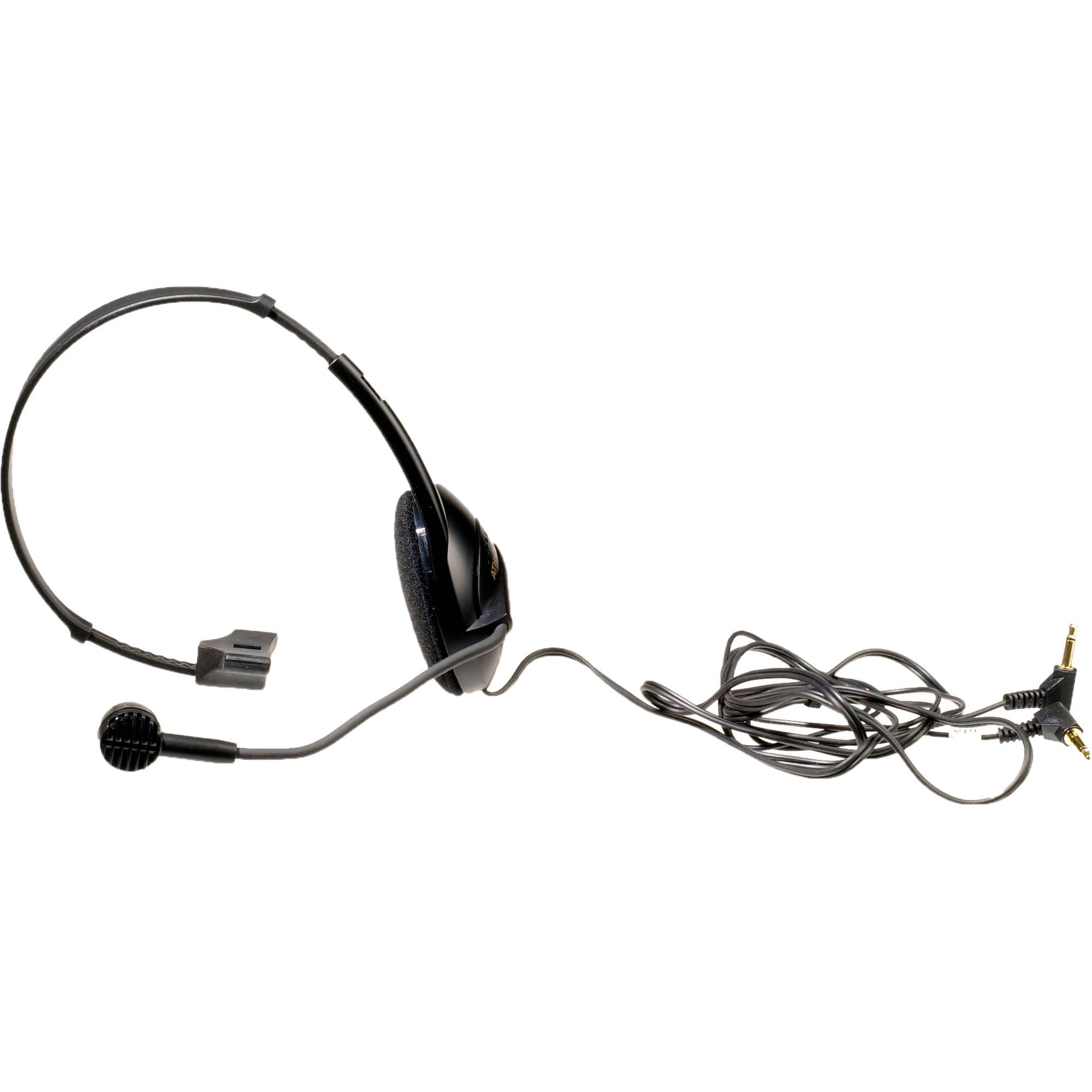 Audio Technica Ath Com1 Headset Ath Com1 B Amp H Photo Video