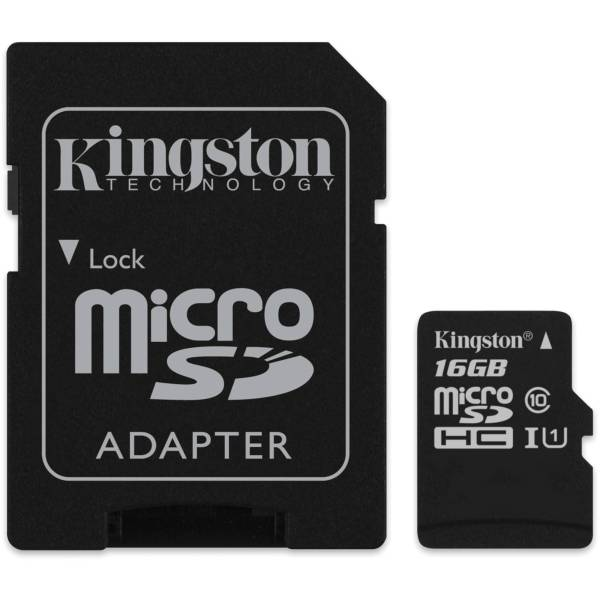 Kingston 16GB microSDHC Memory Card Class 10 with SD SDC10 ...