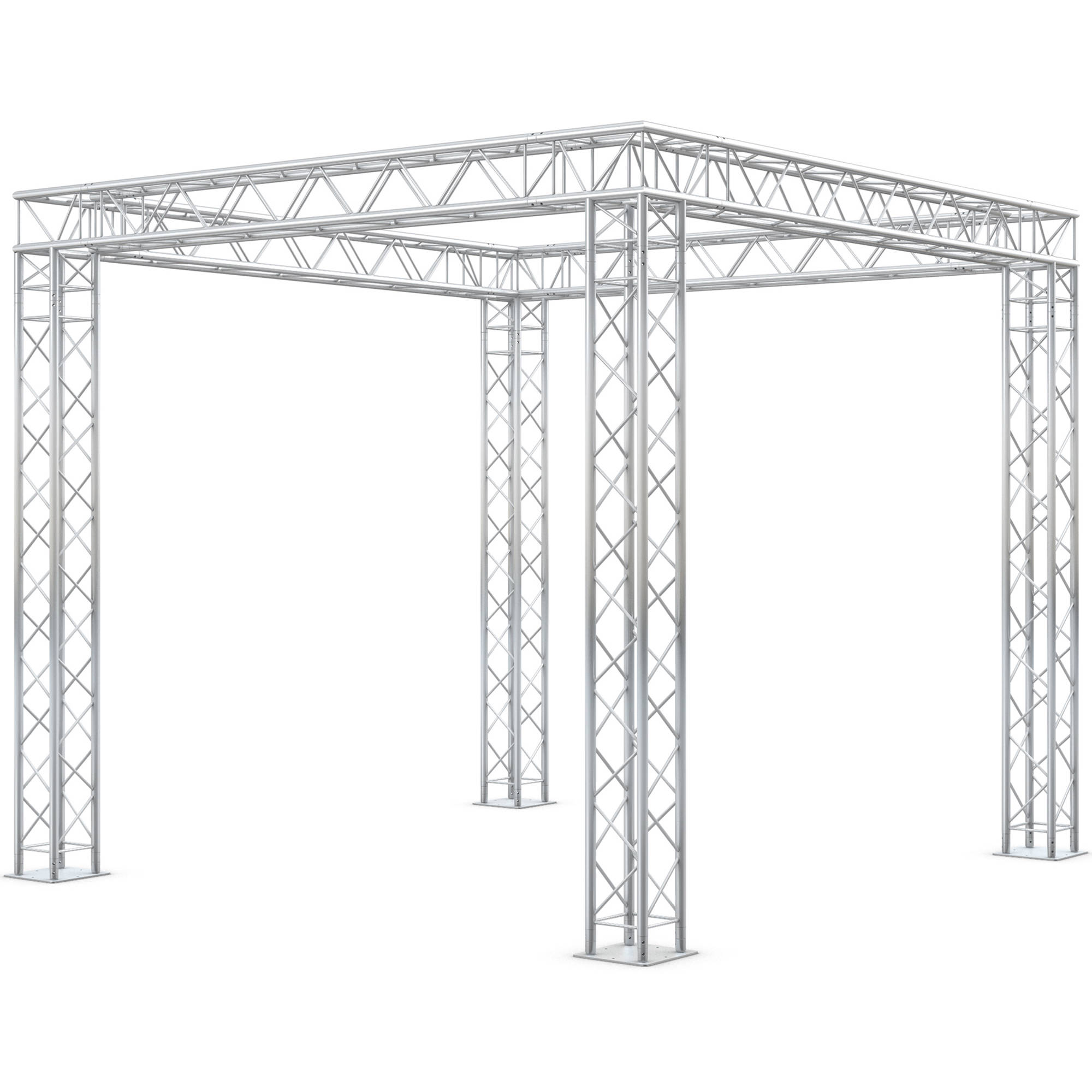 Milos Quicktruss Ultra Display Square Truss Kit Booth5x5u B Amp H