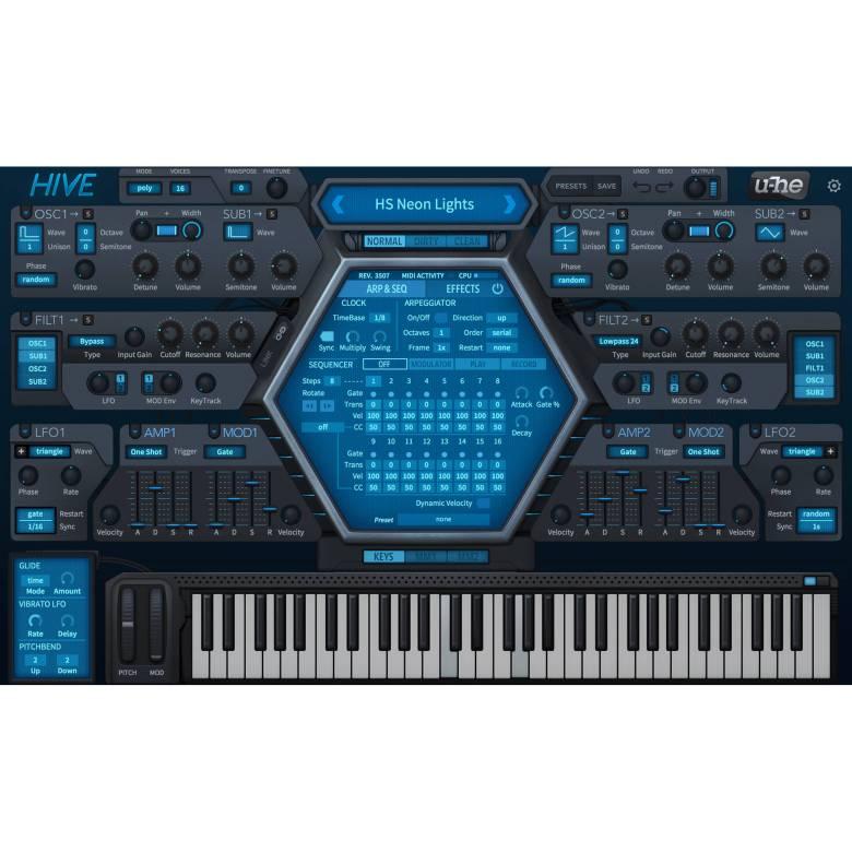 u-he hive - virtual synthesizer (download) 10-12083 b&h photo
