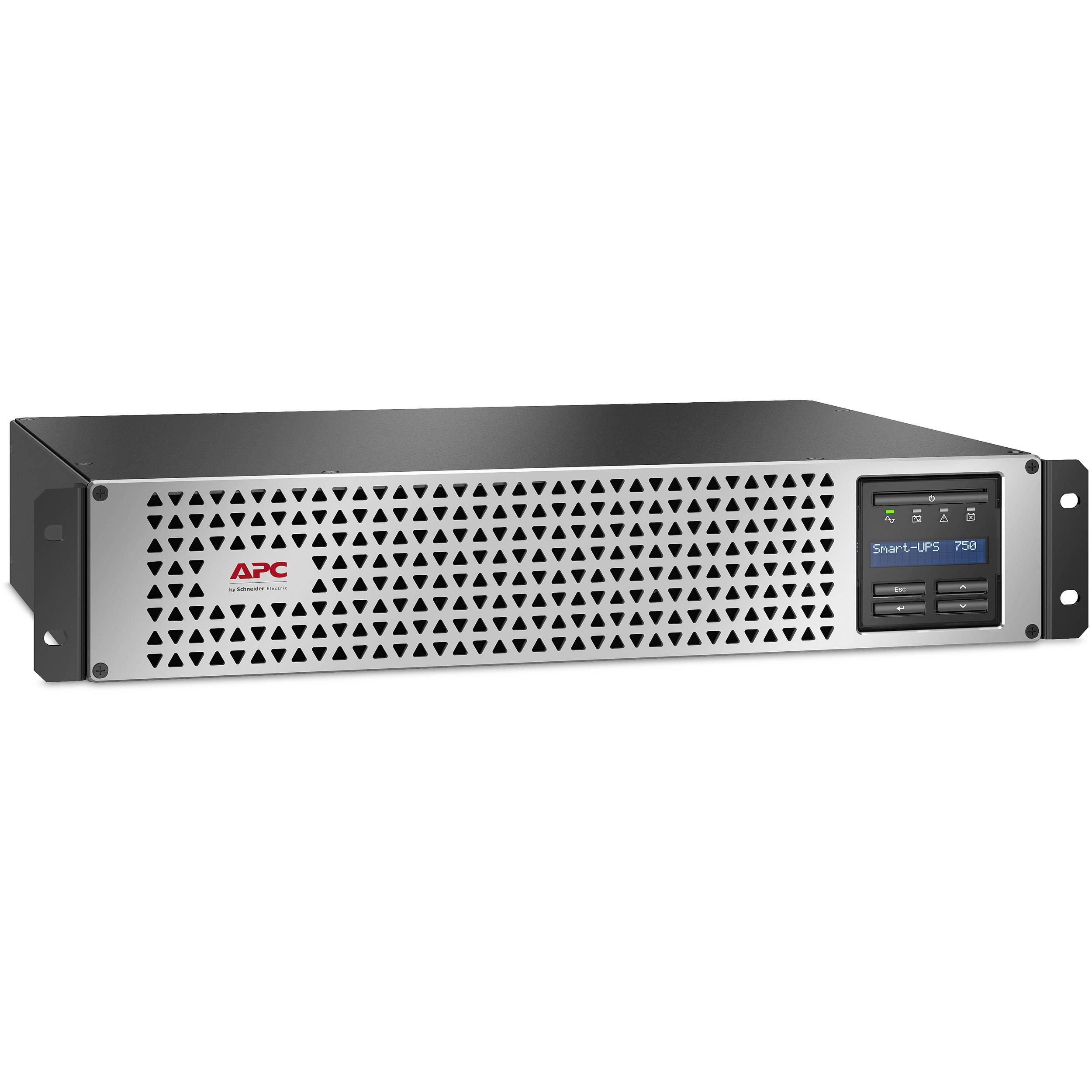 apc smart ups 750va li ion short depth rackmount with smartconnect 120v
