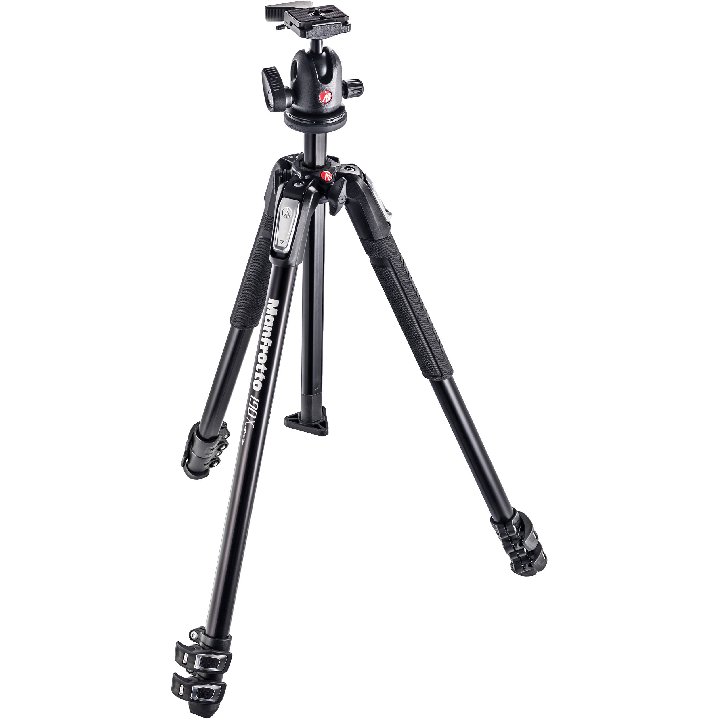 Manfrotto Mk190x3 Bh Aluminum Tripod With 496rc2 Mk190x3