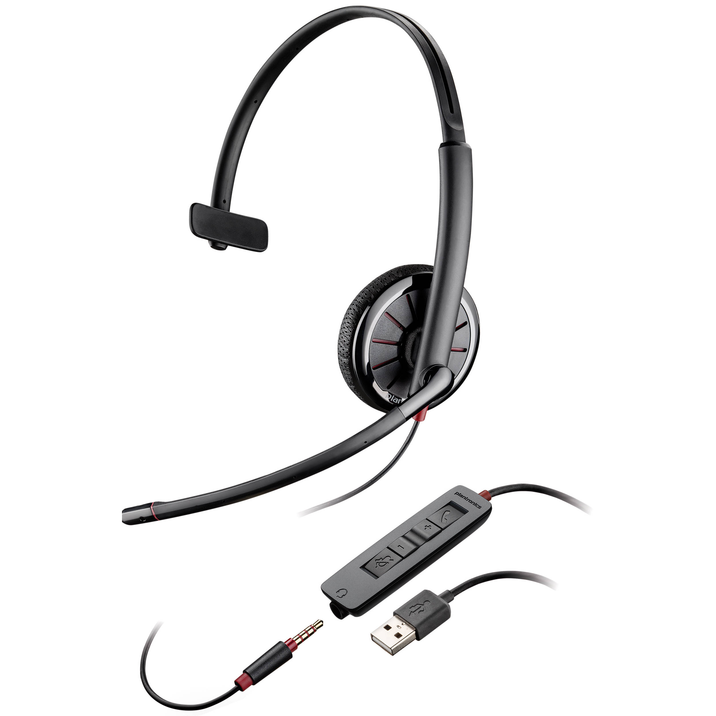 Plantronics Blackwire 315 Monaural Headset 02 B Amp H Photo
