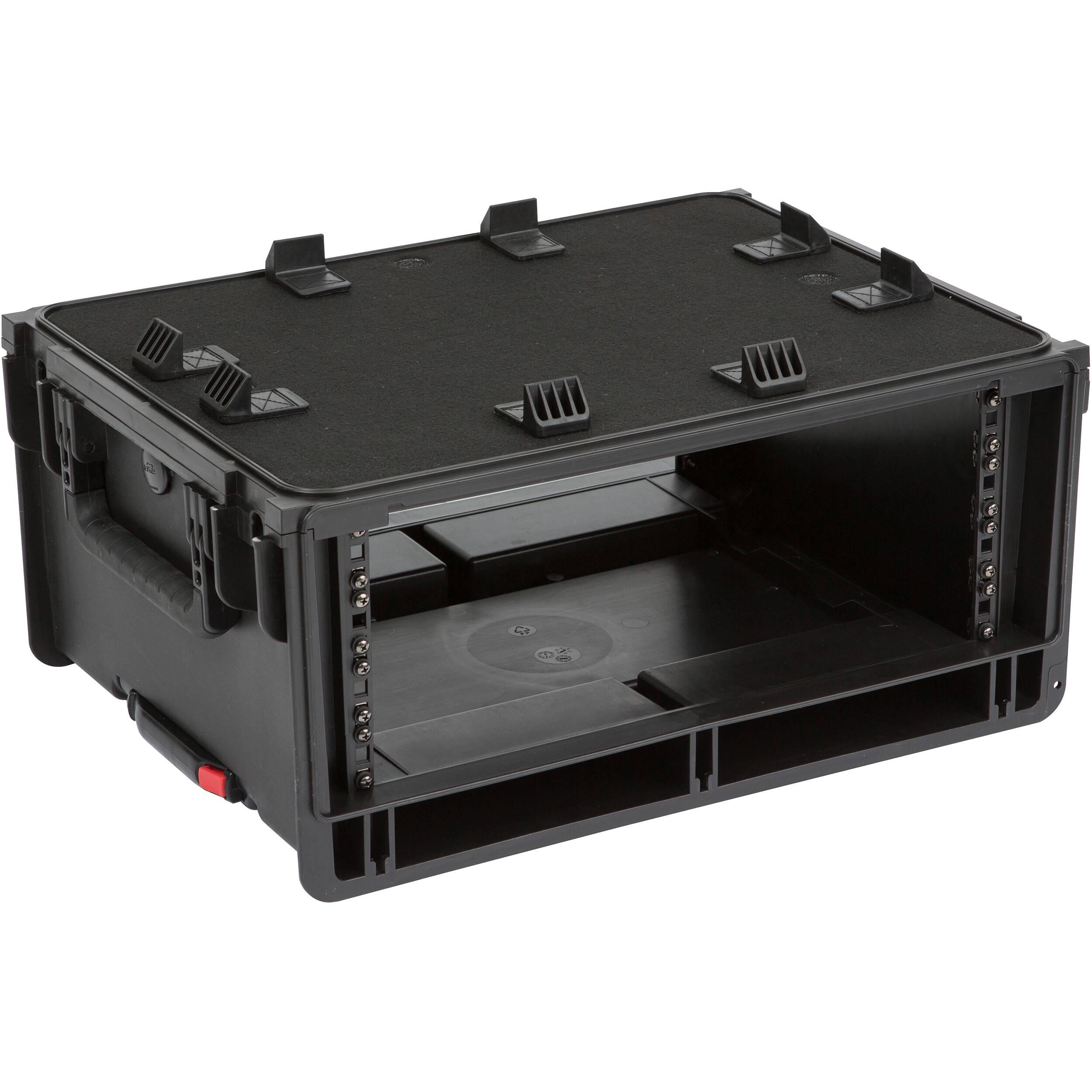 skb injection molded 4 ru studio flyer rack case