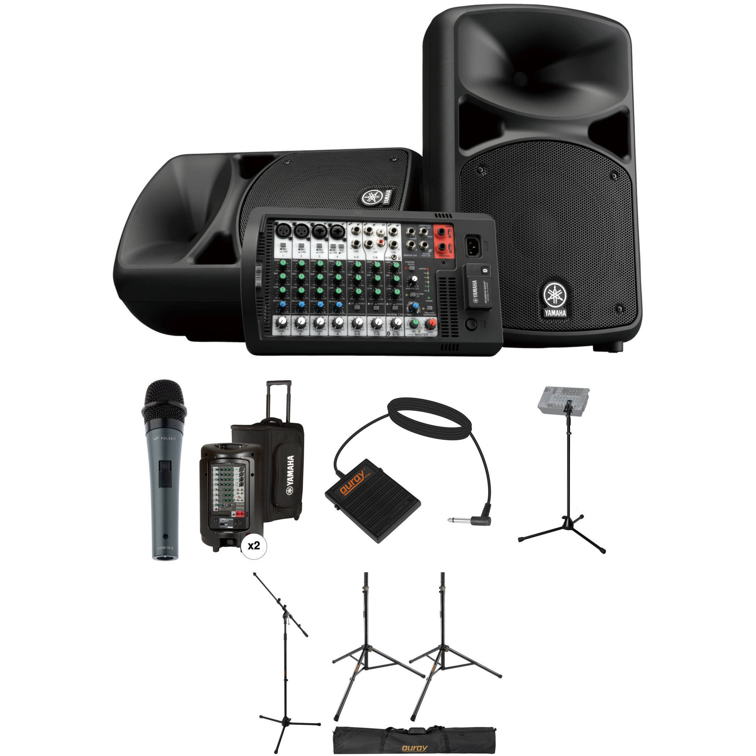 Yamaha Stagepas 600bt Complete Pa System With Touring Package