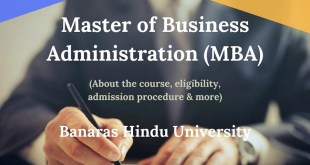 Master of Business Administration (MBA) at BHU