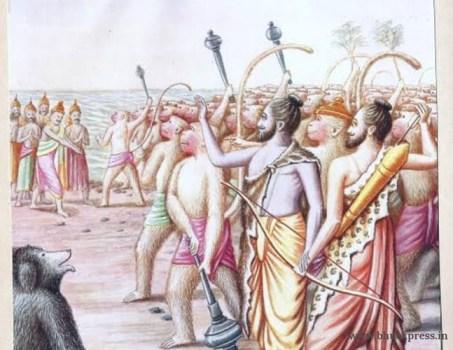 Lord Ram at Rameshwaram