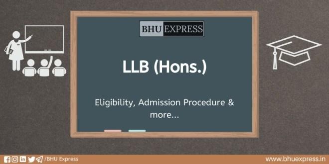 LLB (Hons.) at Banaras Hindu University