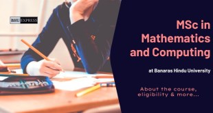 MSc in Mathematics and Computing at BHU
