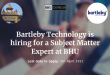 Bartleby Technology is hiring for Subject Matter Expert at BHU | Click here to apply online