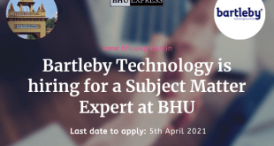 Bartleby Technology is hiring for a Subject Matter Expert at BHU