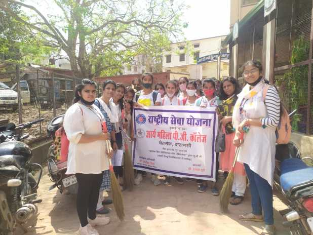 Cleanliness drive at Kapideshwar Mahadev Temple, AMPGC