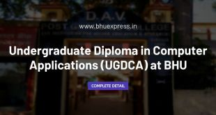 Undergraduate Diploma in Computer Applications (UGDCA) at BHU
