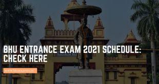 BHU Entrance Exam 2021 Schedule