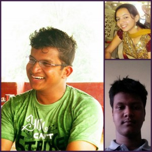 Clockwise: Prahadeesh, Ankita, Ambarish
