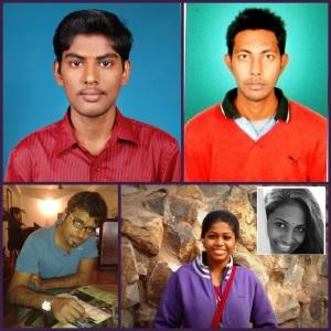 Clockwise: Vignesh, Rakesh, Adityavalli, Dharini, Utkarsh