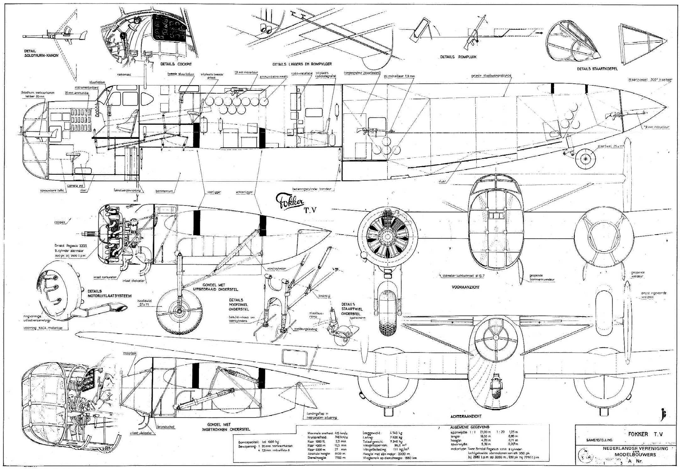 Data Sheet Fokker T V
