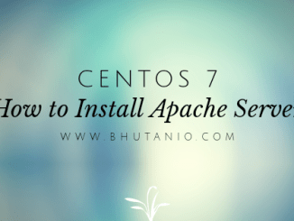 How to Install Apache Server in CentOS 7