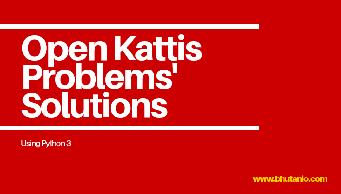 Open Kattis Problems' Solutions