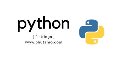 F-strings in Python