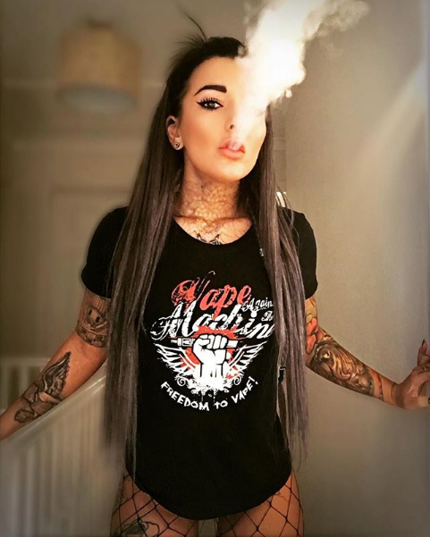 Vape Against the Machine Tee Modeled by rune_wolves on Instagram