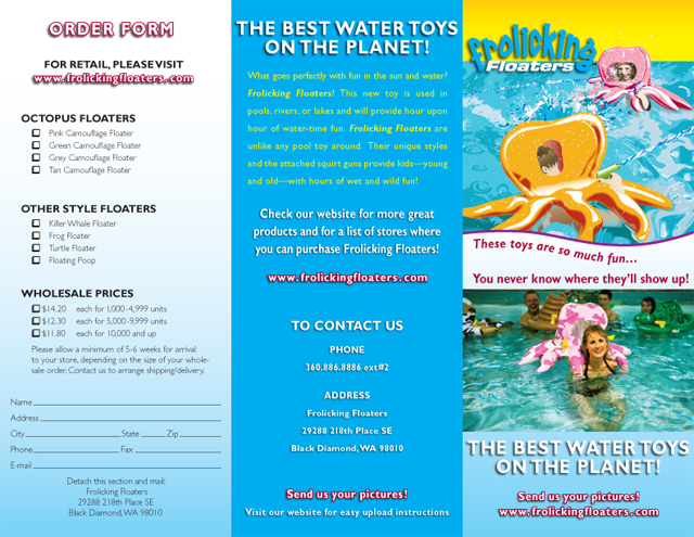 Frolicking Floaters brochure (exterior)