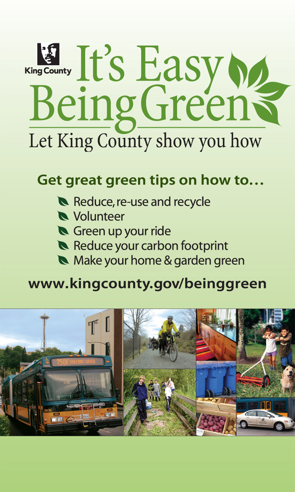 King County advertisement, Green campaign