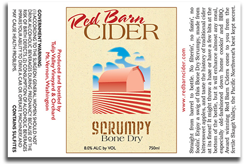Red Barn Cider Scrumpy label
