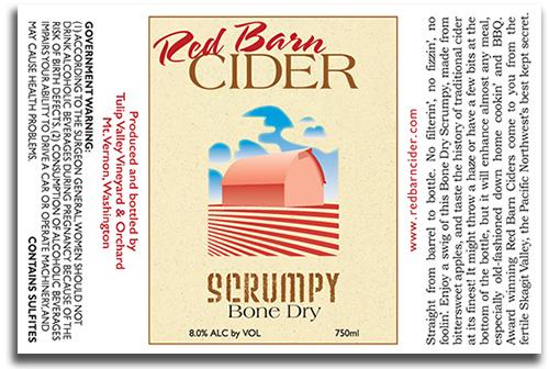 Red Barn Cider Scrumpy label