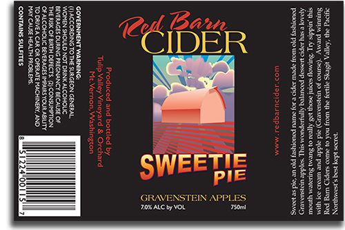 Red Barn Cider Sweetie Pie label