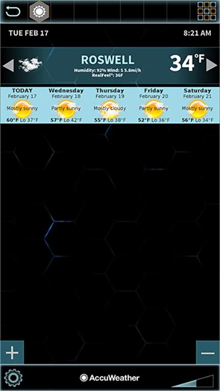 Swipe each location banner left for 5 day forecast