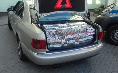 Audi z kontrabandą
