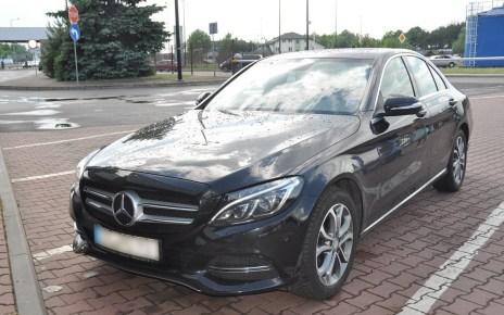 Skradziony Mercedes C180 zatrzymany w Terespolu