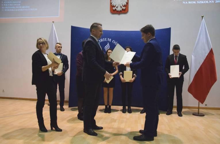 Uczeń ZSCKR w Leśnej Podlaskiej otrzymał Stypendium Prezesa Rady Ministrów