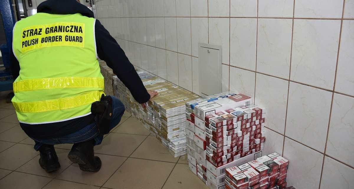 Straż Graniczna zatrzymała papierosową kontrabandę