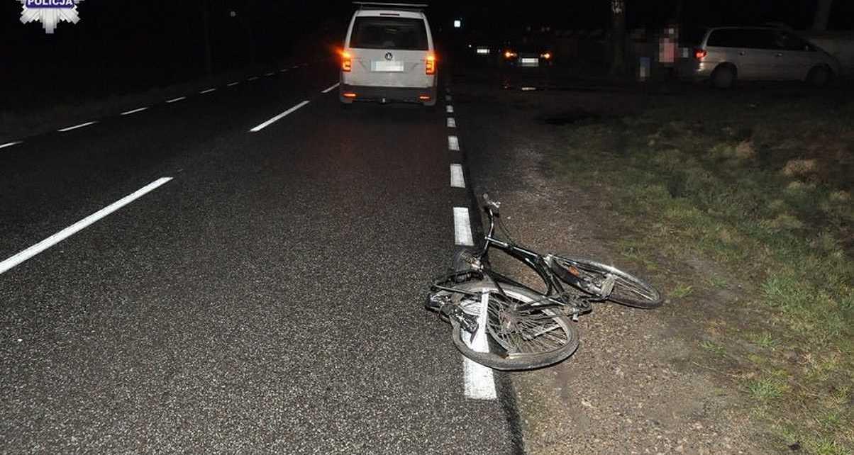 Najechał na nieoświetlonego rowerzystę