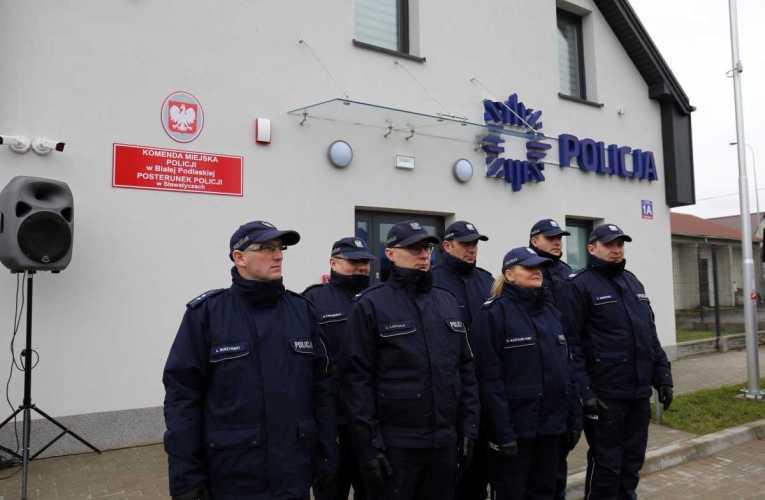 Otwarcie nowej siedziby Posterunku Policji w Sławatyczach