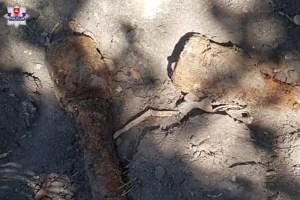Niewybuchy granatów ręcznych przy Moniuszki