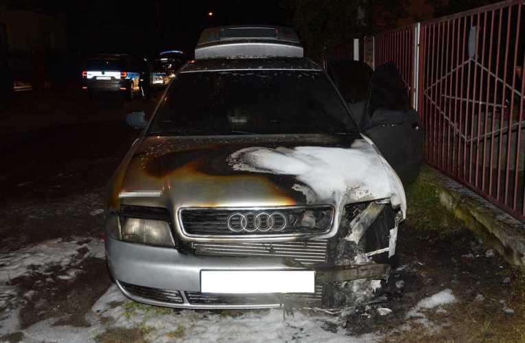 Podpalił samochód partnerki